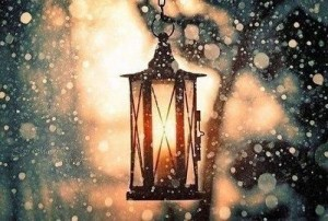 Laterna ziemā - Ziemas kartiņa 11