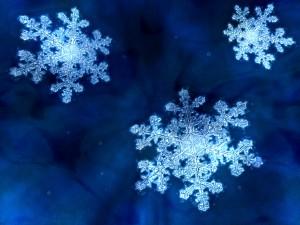 Sniegpārsliņas - Ziemas kartiņa 13