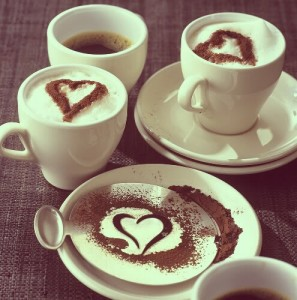 Kafijas un sirdis - Romantiskas kartiņas  27