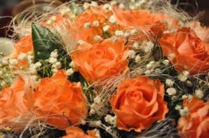 Rozā rožu pušķis - Kartiņas ar ziediem 43