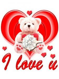 Es Tevi mīlu - lācēns - Romantiskas kartiņas  30
