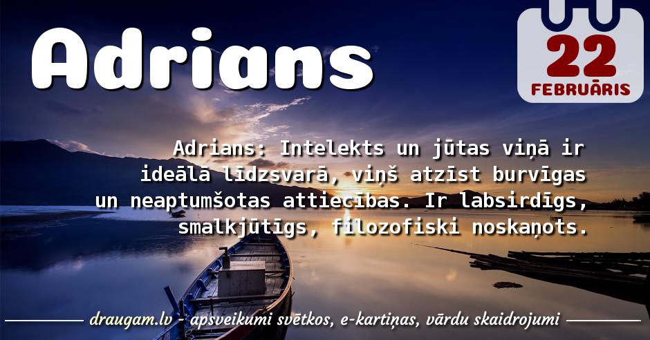 Adrians skaidrojums un vārda diena