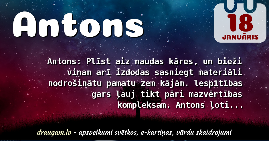 Antons skaidrojums un vārda diena