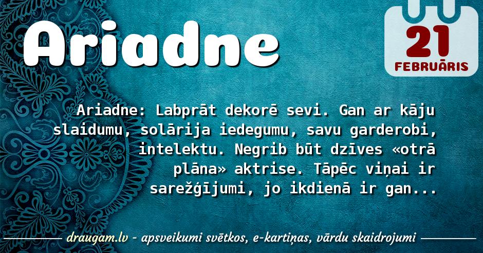 Ariadne skaidrojums un vārda diena