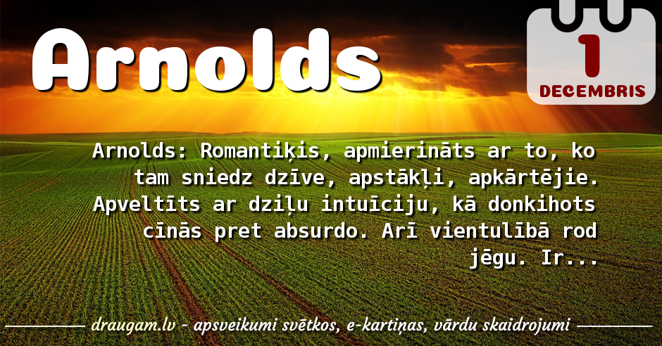 Arnolds skaidrojums un vārda diena