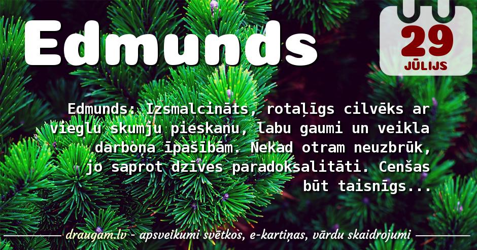 Edmunds skaidrojums un vārda diena