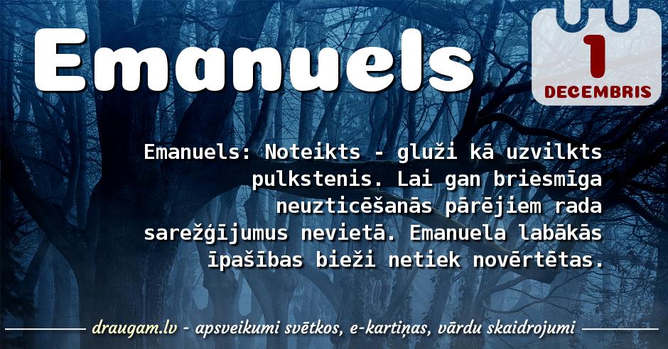 Emanuels skaidrojums un vārda diena
