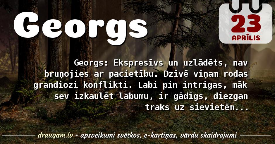 Georgs skaidrojums un vārda diena