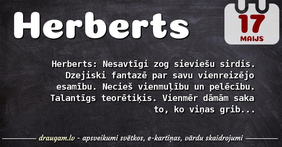 Herberts skaidrojums un vārda diena