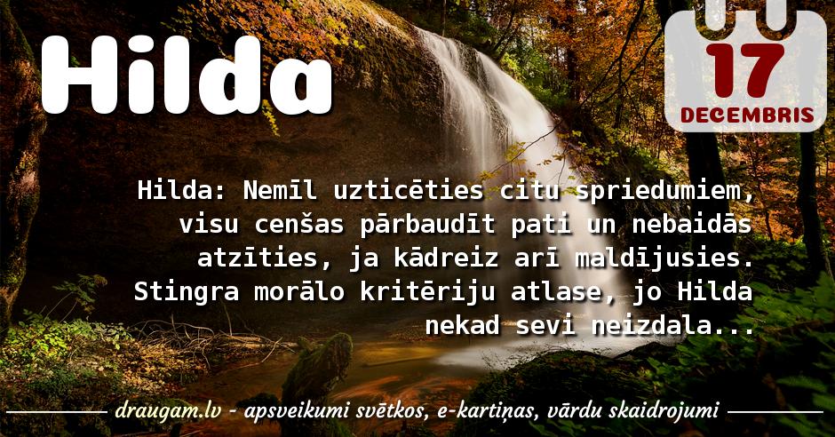 Hilda skaidrojums un vārda diena
