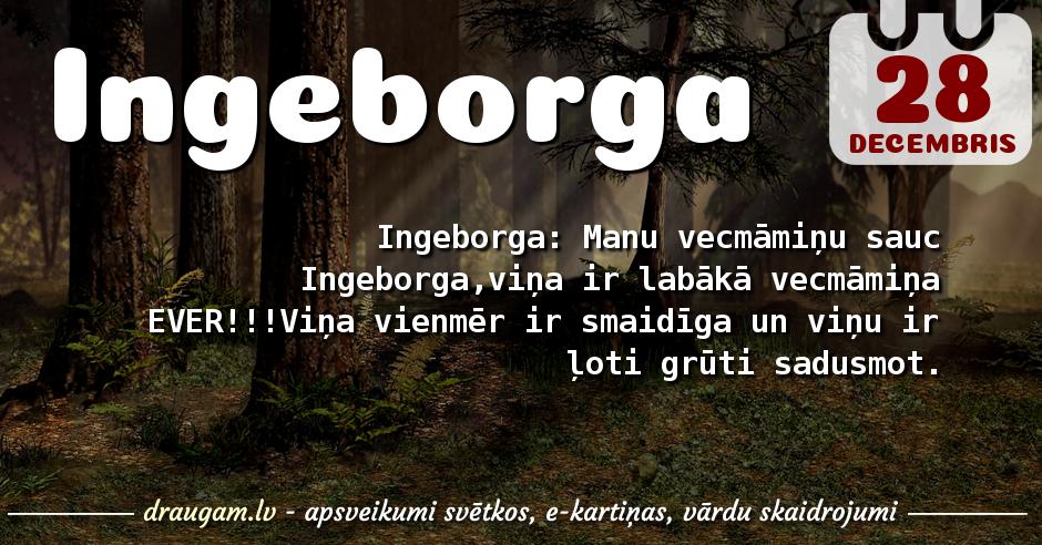 Ingeborga skaidrojums un vārda diena