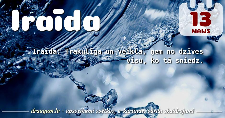 Iraīda skaidrojums un vārda diena