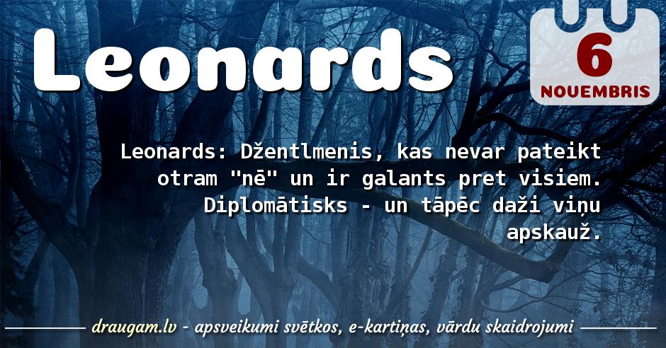 Leonards skaidrojums un vārda diena