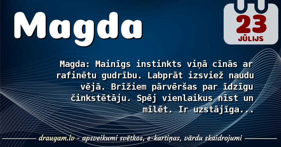 Magda skaidrojums un vārda diena