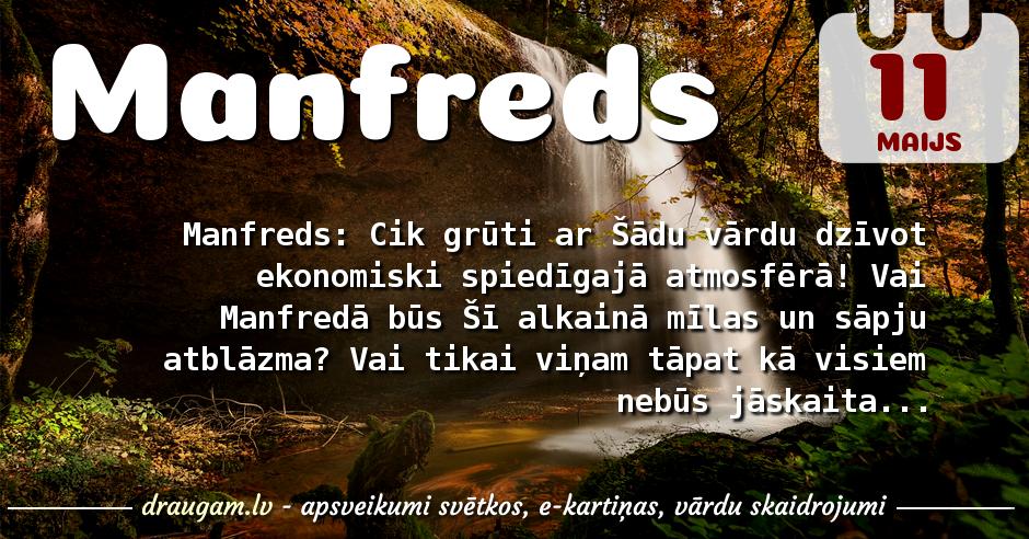 Manfreds skaidrojums un vārda diena