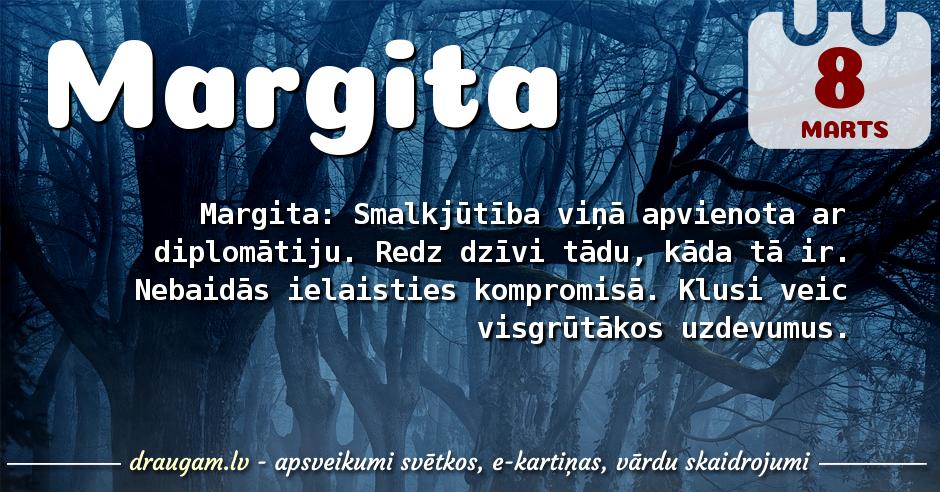 Margita skaidrojums un vārda diena