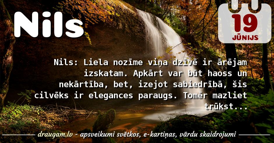 Nils skaidrojums un vārda diena