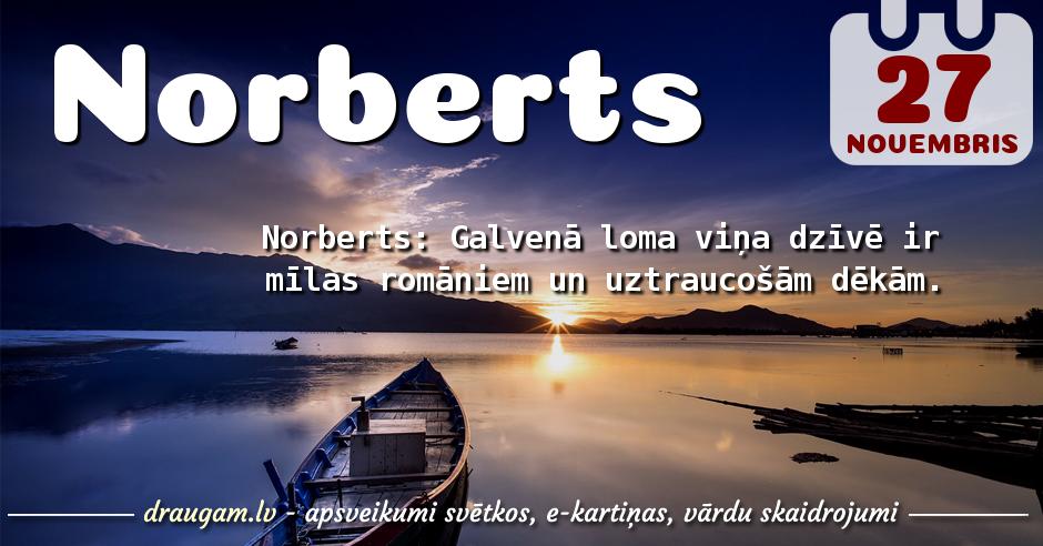 Norberts skaidrojums un vārda diena