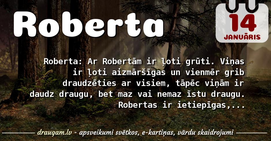 Roberta skaidrojums un vārda diena