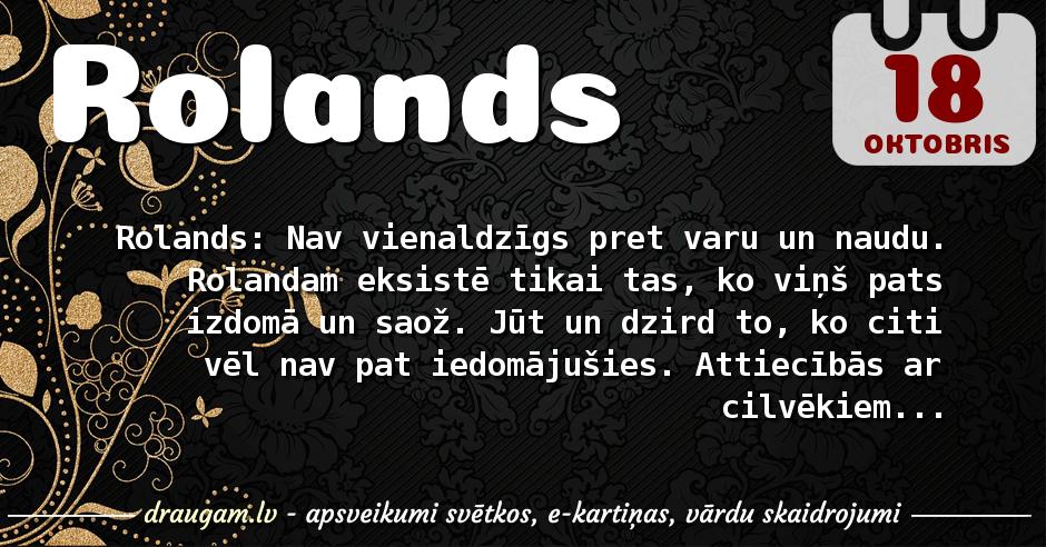Rolands skaidrojums un vārda diena