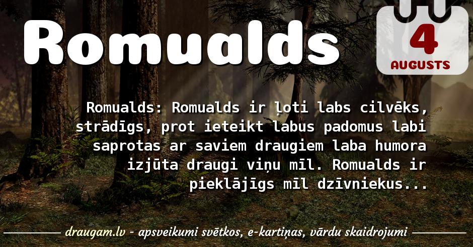Romualds skaidrojums un vārda diena