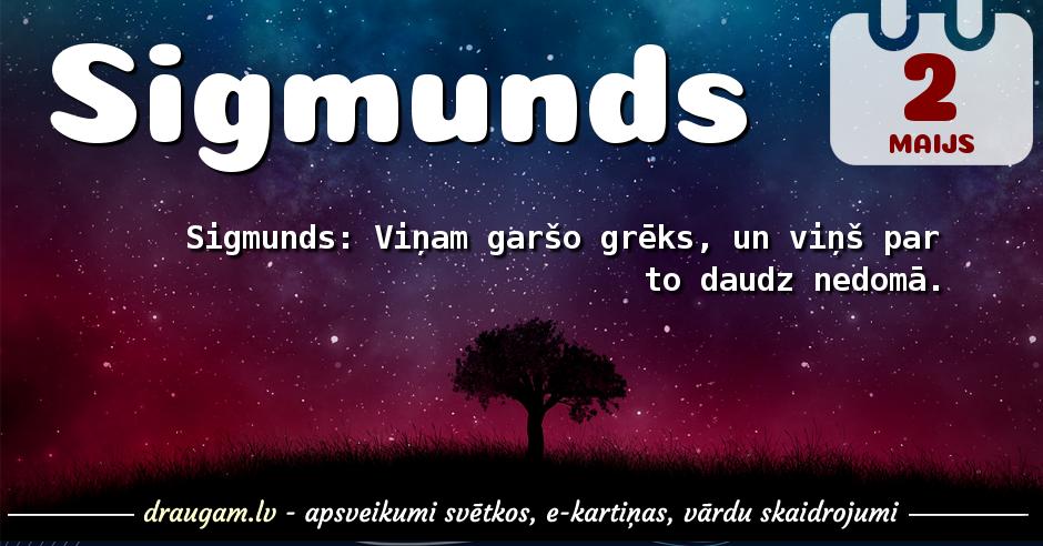 Sigmunds skaidrojums un vārda diena