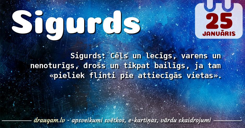 Sigurds skaidrojums un vārda diena