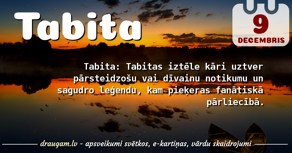 Tabita skaidrojums un vārda diena