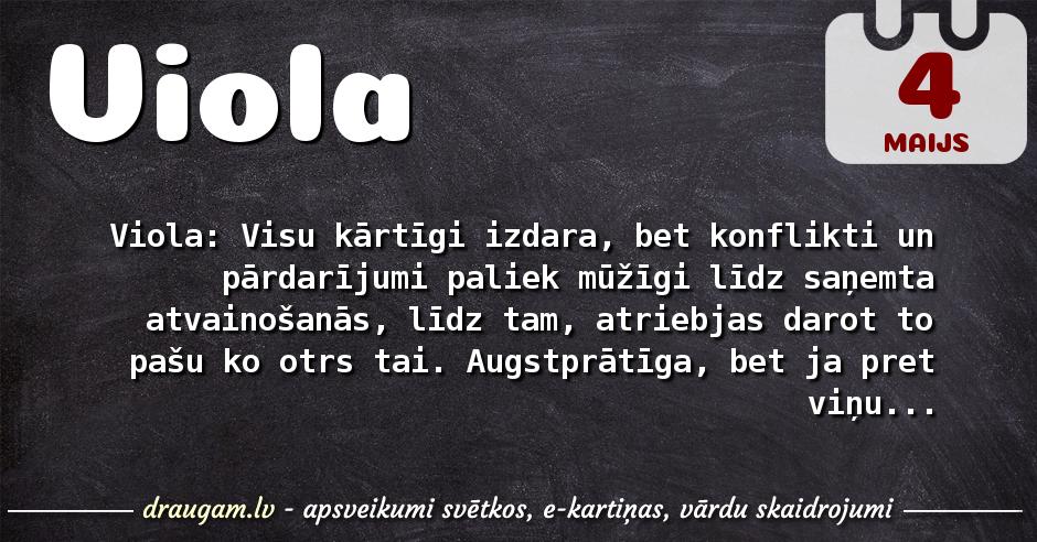 Viola skaidrojums un vārda diena