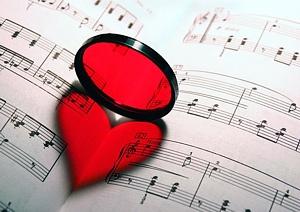 Muzikālā sirds - Romantiskas kartiņas  20