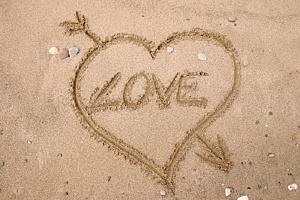 Mīlestība un sirds smiltīs - Romantiskas kartiņas  22