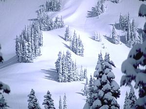 Kalni ziemā - Ziemas kartiņa 4