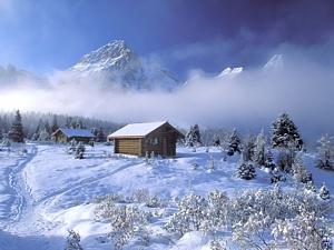 Mājiņa ziemā - Ziemassvētku kartiņa 4