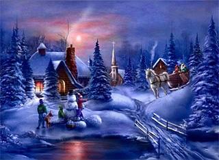 Ziemassvētku ainava - Ziemassvētku kartiņa 2